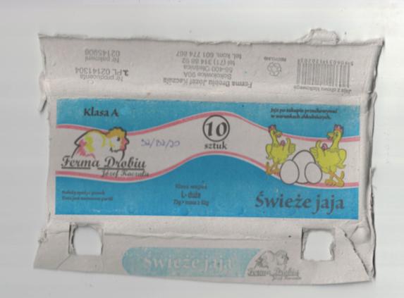 Ostrzeżenie publiczne dotyczące żywności: wykrycie pałeczek Salmonella spp. na powierzchni jaj
